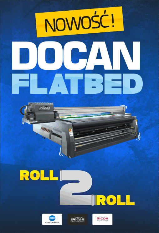 Docan Flatbet uv roll to roll